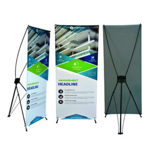 10 mil X-Style Collapsible Banner Stand